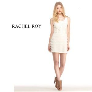 Rachel Roy Ivory Lace Fringe Dress